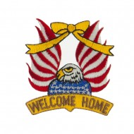 USA Flag Style Embroidered Patch - Welcome Home