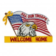 USA Flag Style Embroidered Patch - Welcome Home 2