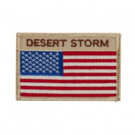 USA Flag Style Embroidered Patch - Desert Storm