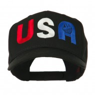 United States of America Embroidered Cap - Black