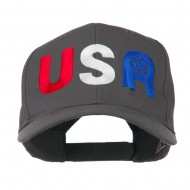 United States of America Embroidered Cap - Charcoal Grey