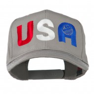 United States of America Embroidered Cap - Grey