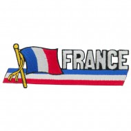 Europe Flag Cutout Embroidered Patches - France