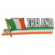 Europe Flag Cutout Embroidered Patches - Ireland