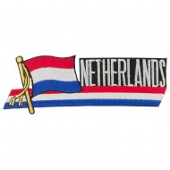 Europe Flag Cutout Embroidered Patches - Netherlands