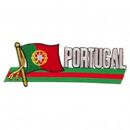 Europe Flag Cutout Embroidered Patches - Portugal