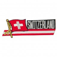 Europe Flag Cutout Embroidered Patches - Switzerland