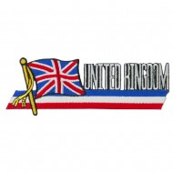 Europe Flag Cutout Embroidered Patches - United Kingdom