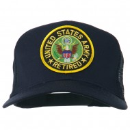 US Army Retired Circle Patched Mesh Cap - Navy