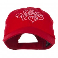Valentine Heart Embroidered Cap - Red