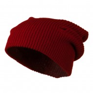 Vintage Deep Shell Beanie - Red