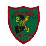 Veteran Embroidered Military Patch - Helmet