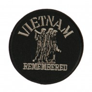Veteran Embroidered Military Patch - Vietnam Remembered