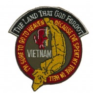 Veteran Embroidered Military Patch - Land