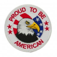 Veteran Embroidered Military Patch - Proud American