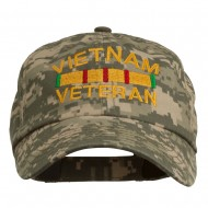 Vietnam Veteran Embroidered Enzyme Washed Cap - Digital Camo