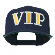 VIP Flat Bill Embroidered Cap - Navy