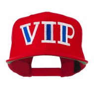 VIP Flat Bill Embroidered Cap - Red