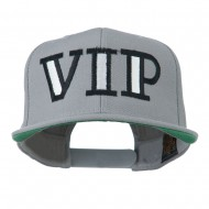 VIP Flat Bill Embroidered Cap - Silver