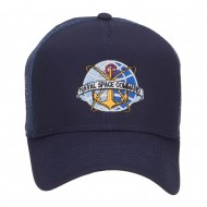 Naval Space Command Embroidered Mesh Cap - Navy
