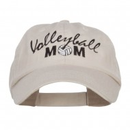 Volleyball Mom Embroidered Low Profile Cap - Stone
