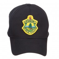 Vermont State Police Patched Cap - Black