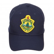 Vermont State Police Patched Cap - Navy