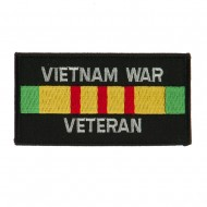Veteran Rectangle Embroidered Military Patch - VN War