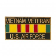 Vietnam Veteran Ribbon Cloisonne Military Pins - Air Force
