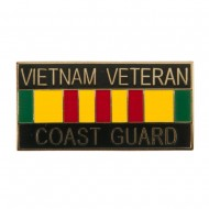 Vietnam Veteran Ribbon Cloisonne Military Pins - USCG