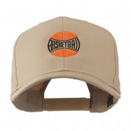 Basketball with Wording Inside Embroidered Cap - Khaki