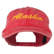 Western State Alaska Embroidered Washed Cap - Red