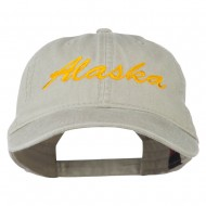 Western State Alaska Embroidered Washed Cap - Stone Grey