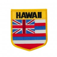 Western State Flag Embroidered Patch Shield - Hawaii