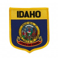 Western State Flag Embroidered Patch Shield - Idaho