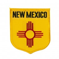 Western State Flag Embroidered Patch Shield - New Mexico