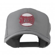 Softball Ball with Wording Inside Embroidered Cap - Grey