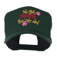 We Got Spirit Yes We Do Embroidered Cap - Green