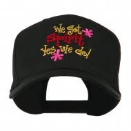 We Got Spirit Yes We Do Embroidered Cap - Black