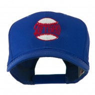 Softball Ball with Wording Inside Embroidered Cap - Royal