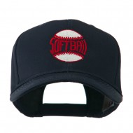 Softball Ball with Wording Inside Embroidered Cap - Navy