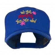 We Got Spirit Yes We Do Embroidered Cap - Royal