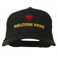 Welcome Home Embroidered Cotton Twill Cap - Black