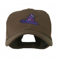 Halloween Wizard Hat Embroidered Cap - Brown