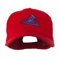 Halloween Wizard Hat Embroidered Cap - Red