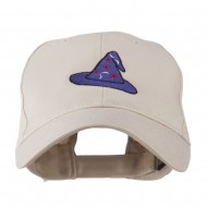 Halloween Wizard Hat Embroidered Cap - Stone
