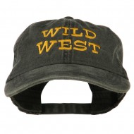 Wild West Embroidered Washed Cap - Black
