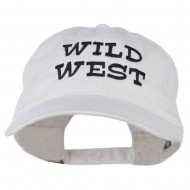 Wild West Embroidered Washed Cap - White