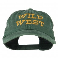 Wild West Embroidered Washed Cap - Dark Green