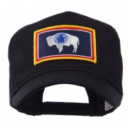 USA Western State Embroidered Patch Cap - Wyoming